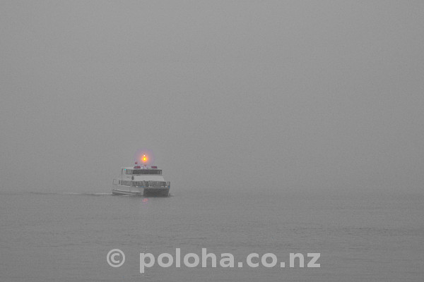 Stock Photo: Morning ferry approaches Birkenhead Wharf