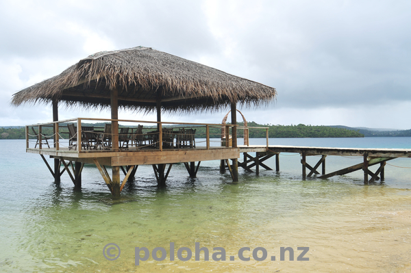 Tongan Beach Resort jetty